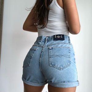 Vintage high waist denim mom shorts w29